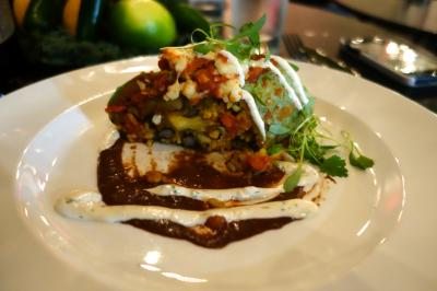 Photo of vegetable enchiladas