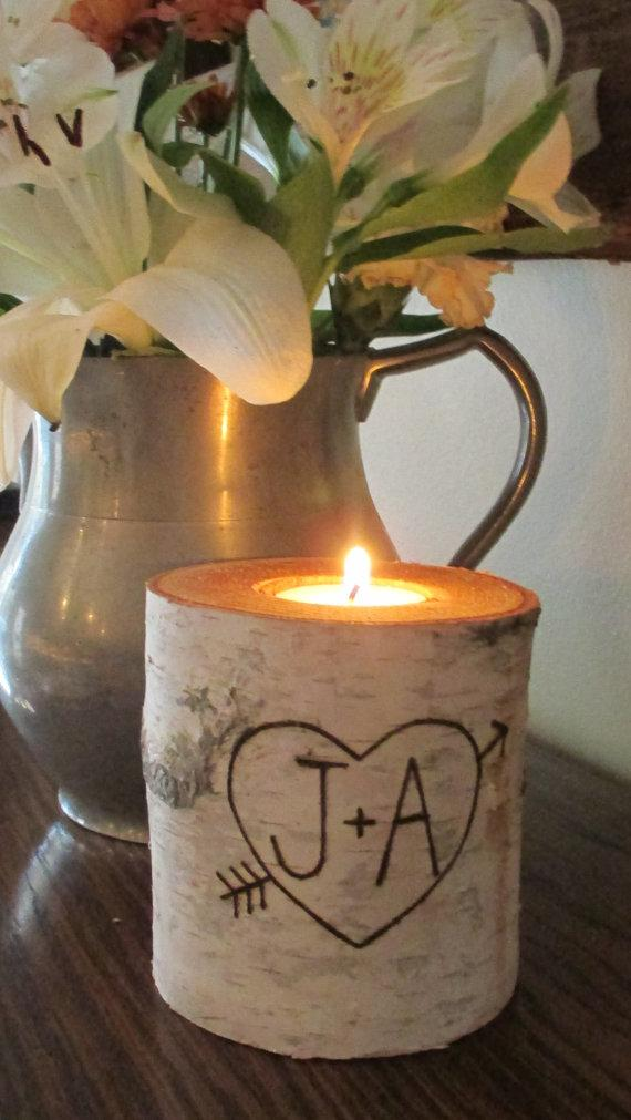 Custom Birch Candle