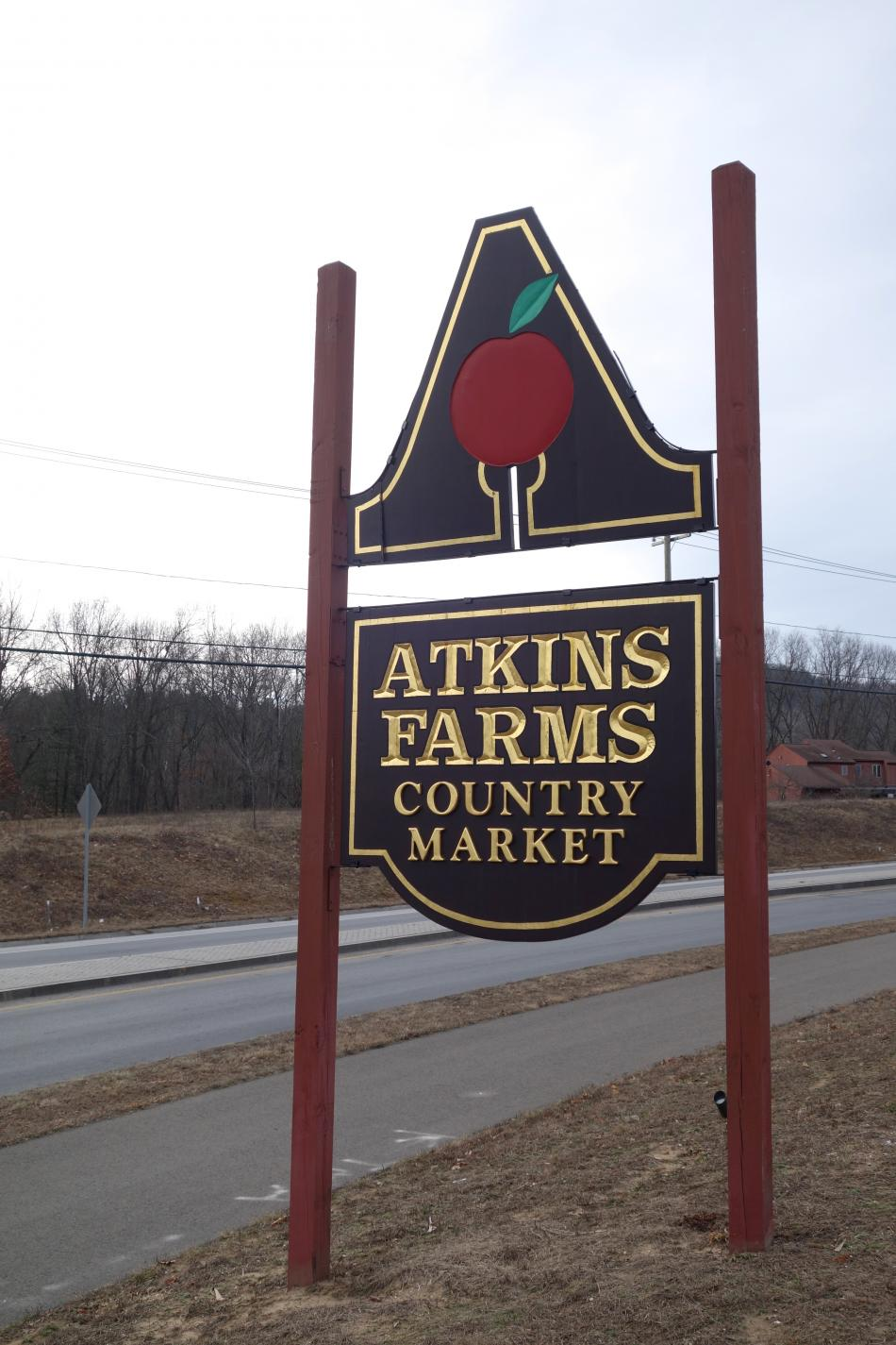 Atkins Farms sign