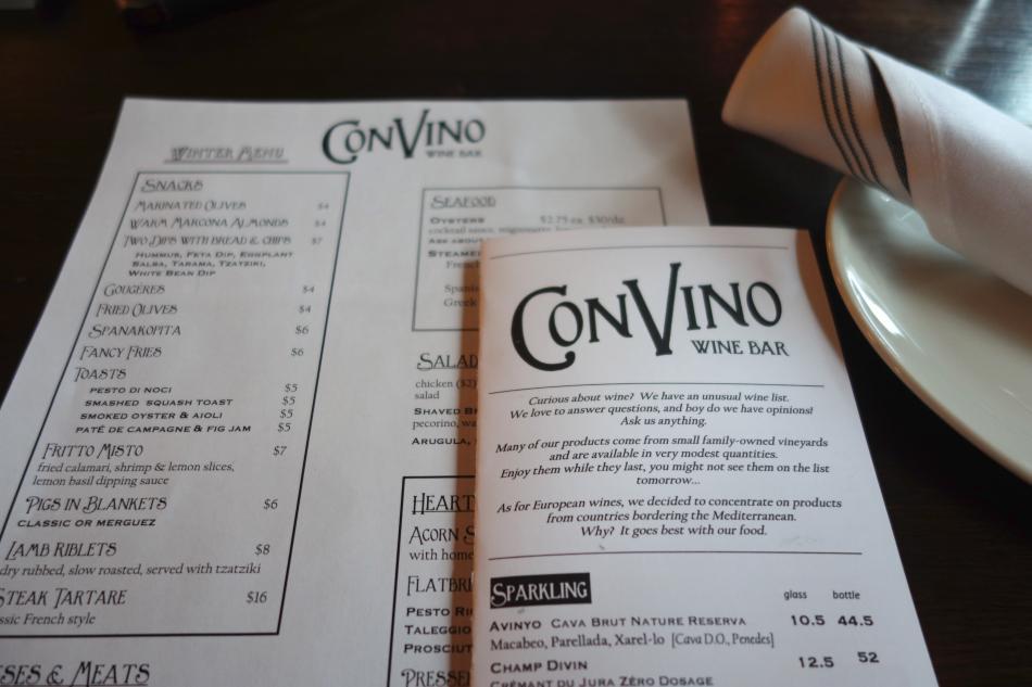 ConVino Wine List