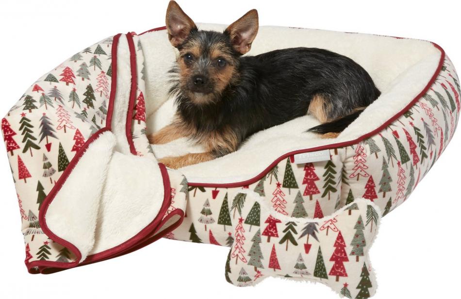 Holiday Dog Bed Set