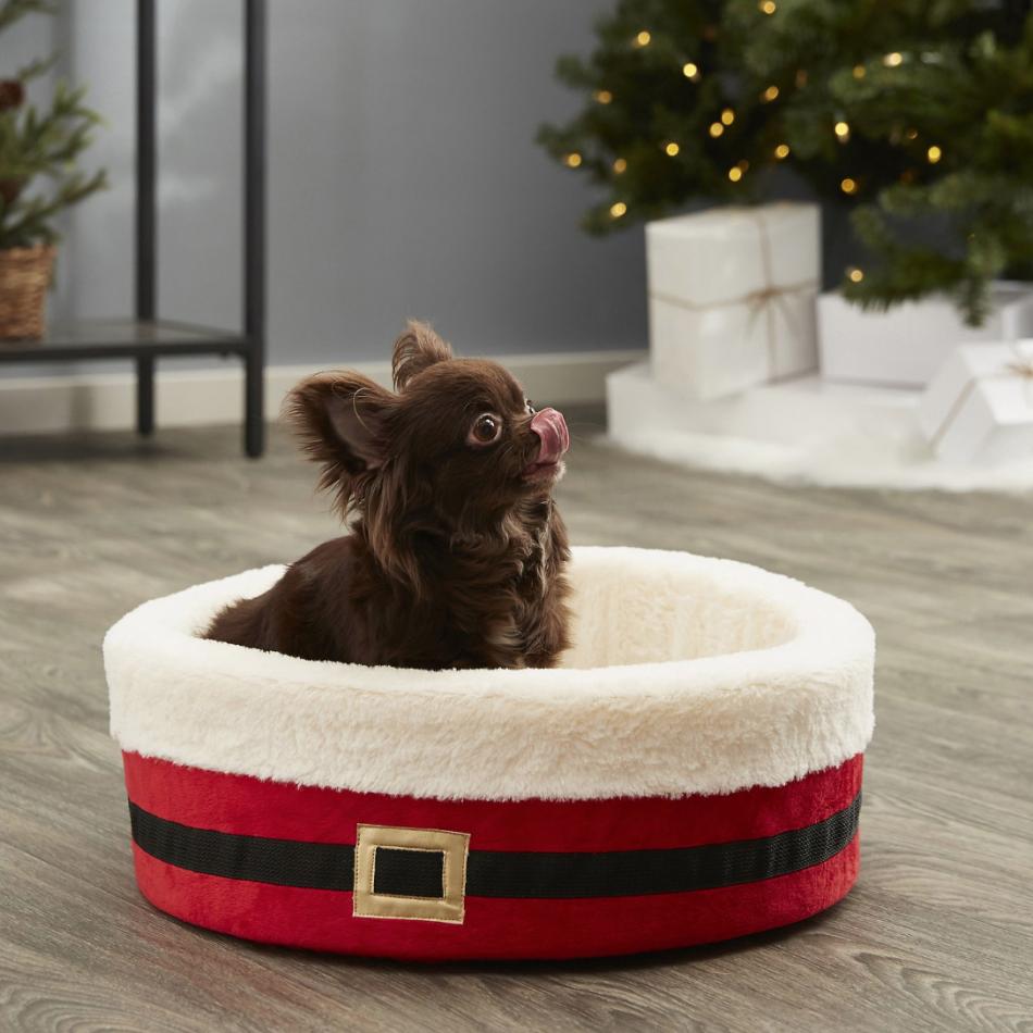 Santa Dog Bed