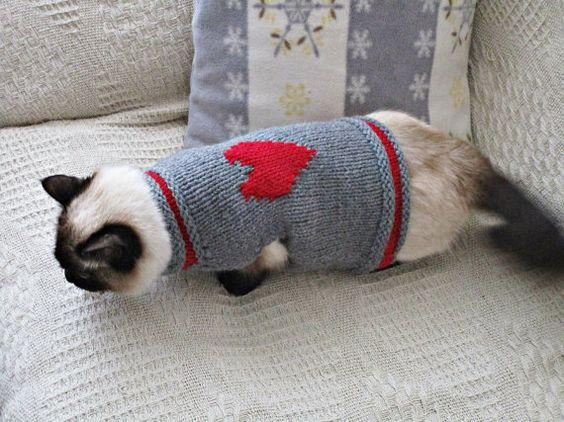 Cat Heart Sweater