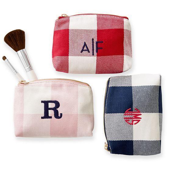 Gingham Makeup Bags
