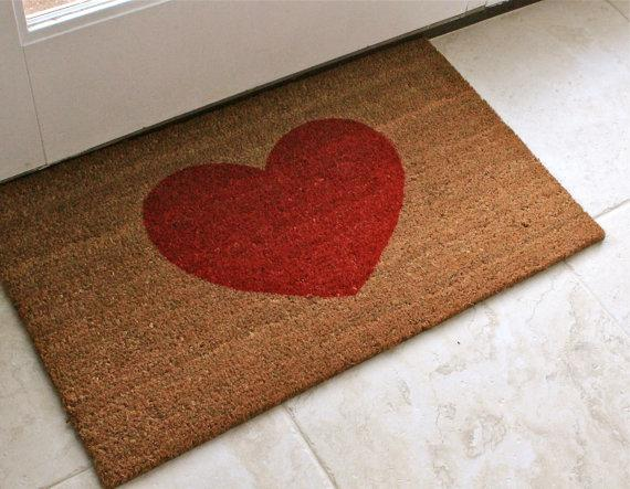 Heart Welcome Mat