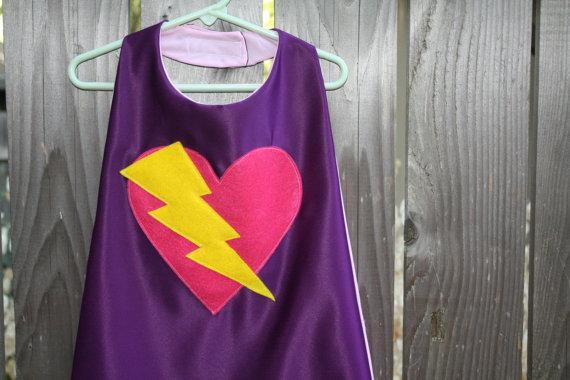 Heart Super Hero Cape