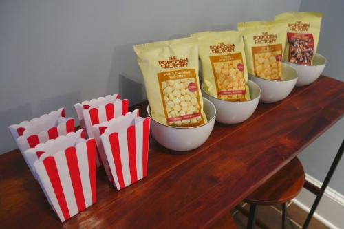 Photo of popcorn bar.
