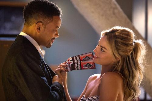 Photo of Will Smith and Margot Robbie.