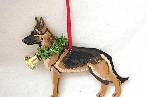Photo of dog ornaments from TwoCorgisStudio on Etsy.