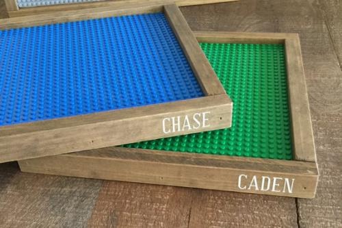 Photo of custom lego boards.